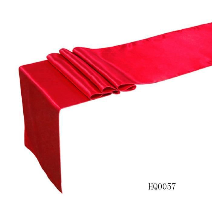 12 x 108 30cm 250cm satin chemin de table de soir e for Chemin de table rouge