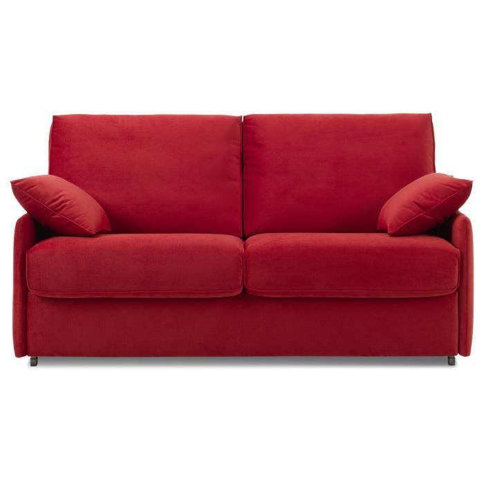 Canap convertible kirk 3 places couchage 140 couleur rouge achat v - Canape convertible couleur ...