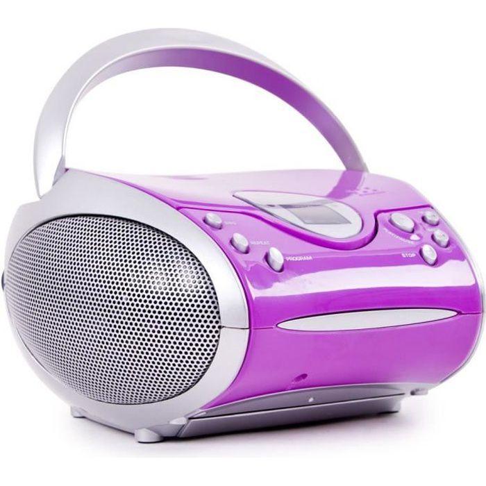 RADIO CD CASSETTE Lecteur laser CD portable fille chaîne hi-fi MP3 r