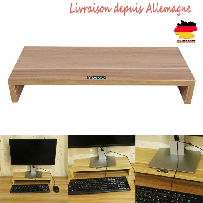 support moniteur cran pc tv lcd support pour pc cran ergonomique en bois pour bureau achat. Black Bedroom Furniture Sets. Home Design Ideas