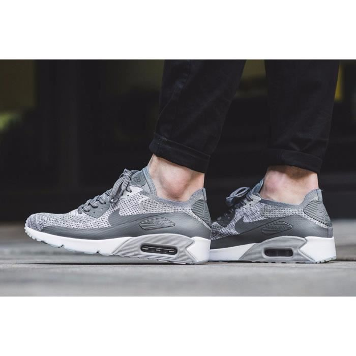 Baskets basses Air Max 90 Ultra 2.0 Flyknit Nike en blanc