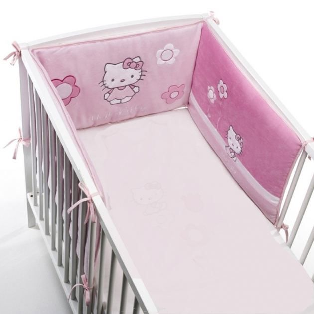 tour de lit hello kitty pas cher tour lit hello kitty. Black Bedroom Furniture Sets. Home Design Ideas