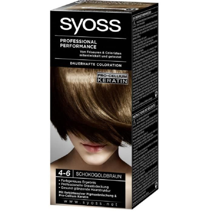coloration coloration syoss 4 6 chtain chocolat dor - Coloration Syoss