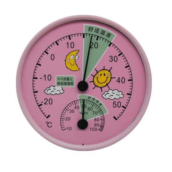 Chambre bébé Thermomètre température de la pièce intérieure Testeur mur  monté de haute précision Accueil serre Pour Drugstore