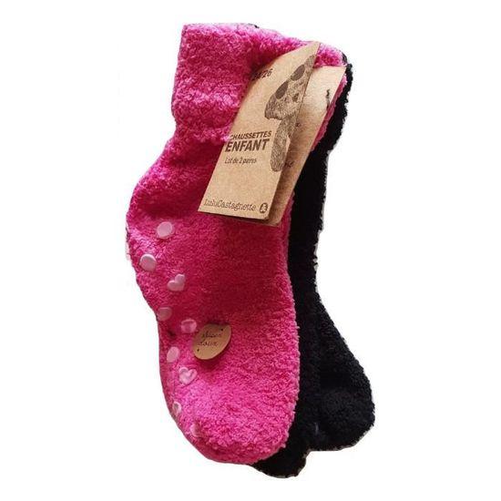 LULU CASTAGNTTE lot 2 paires chaussette enfant mixte anti-derapant ultra-doux