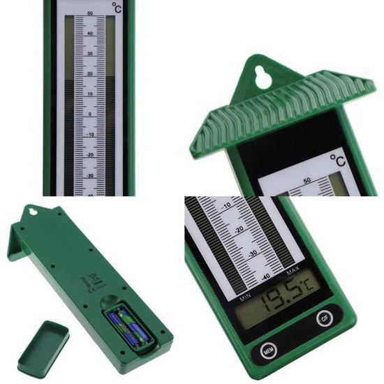 27 cm Extérieur Thermomètre Jardin Thermomètre Métal Extérieur Jardin Balcon Thermomètre