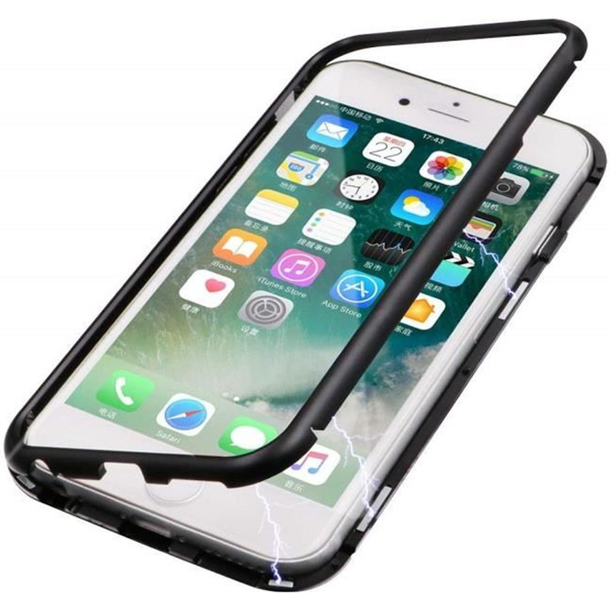 welkoo r coque iphone 7 8 noire magnetique prote