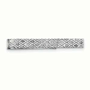 PINCE A CRAVATE Pince A Cravate Men's Sterling Silver Playing Card