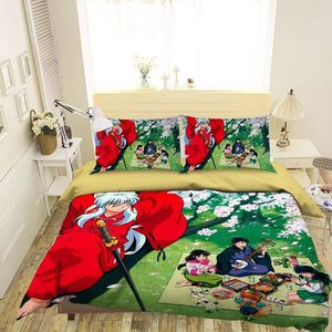 HOUSSE DE COUETTE ET TAIES 3D Inu Yasha 3727 Japan Anime Game 200x225 cm + 2