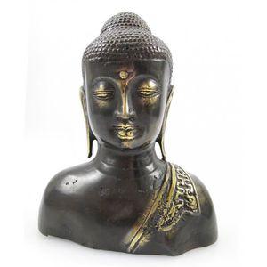 OBJET DÉCORATIF Buste de Bouddha en bronze h18cm. Décoration asiat