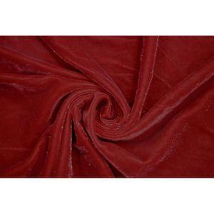 TISSU Tissu Velours Velvet Brillant Rouge -Au Mètre