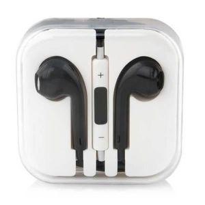 CASQUE - ÉCOUTEURS Popcorn Noir Écouteurs EarPods pour Apple iPhone -