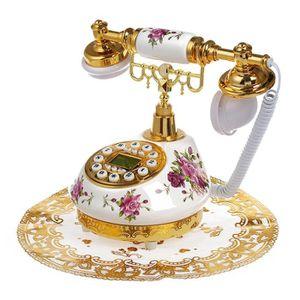 Téléphone fixe Telephone Fixe en Ceramique Retro Antique avec Rep