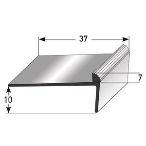 Profil/é de montage en aluminium 10 x 15 x 1 mm 1 m/ètre Corni/ère pour escaliers in/égale