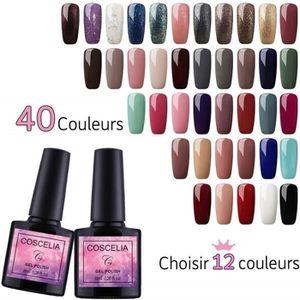 VERNIS A ONGLES (Choisir 12 couleurs) Coscelia 12 pc Vernis Semi P