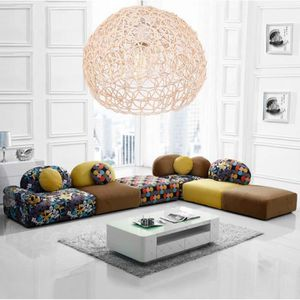 LUSTRE ET SUSPENSION EXBON  Lustre - suspension Beige Nouveau Tissage R