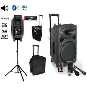 PACK SONO Pack IBIZA Sono portable Port8vhf-BT + pied encein