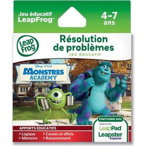 JEU CONSOLE ÉDUCATIVE Leappad / Leapster Explorer jeu : Monstres Academy