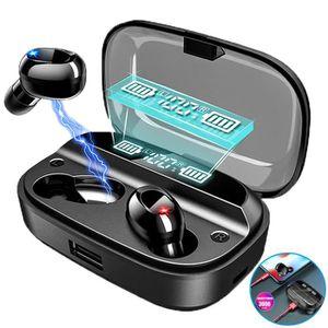 CASQUE - ÉCOUTEURS Lecheo Ecouteur Bluetooth 5.0 sans Fil 3000mAh TWS