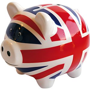 TIRELIRE Tirelire cochon céramique London Union Jack