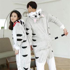 Pyjamas Chat Dessin Animé Qualité Supérieure Flanelle à