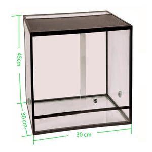 VIVARIUM - TERRARIUM Terrarium aluminium Elegance 30x30x45 Black