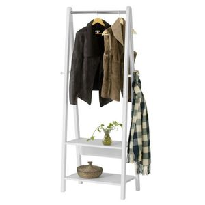 PENDERIE MOBILE SoBuy® FRG59-W Valet de chambre Garde-robe Penderi