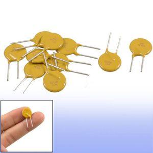 sourcingmap/® 10 pcs 60V 0.75A 750mA fusible r/éarmable Poli Interrupteur PPTC radiale
