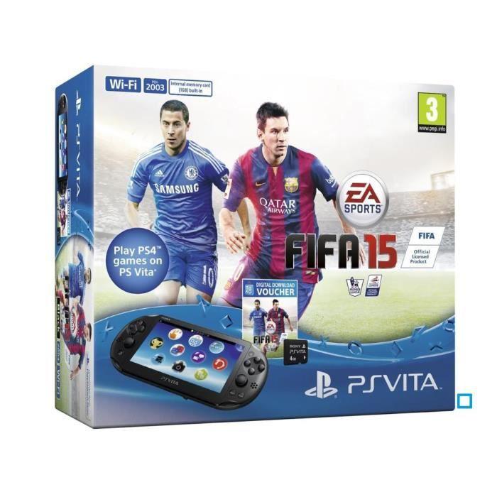 PS Vita Wi-Fi+Coupon Jeu FIFA 15+Carte 4 Go