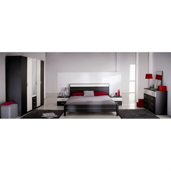 Amman chambre compl te adulte 160cm for Ensemble de chambre adulte