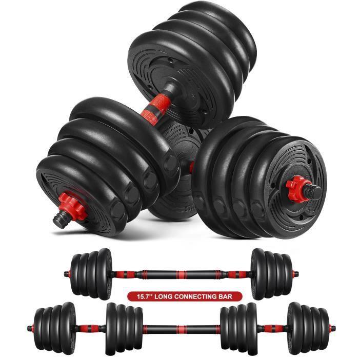 Haltère 30kg poids ajustables