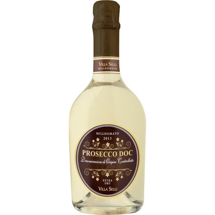 Prosecco DOC Millesimato Villa Selli Vin mousseux italien 6 bouteilles 75 cl.