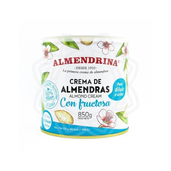 crème d'amandes avec fructose almendrina 850 gr