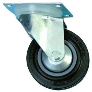 ROULETTE PIVOTANTE CAOUTCHOUC Diametre:10cm