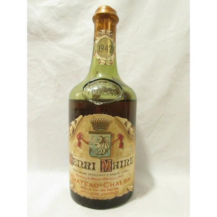 château-chalon henri maire vin jaune blanc 1942 - jura france