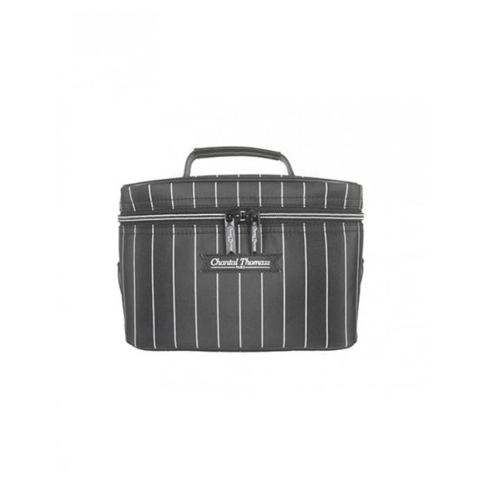 Garçonnette - Vanity souple rayé noir et blanc CT219N-17
