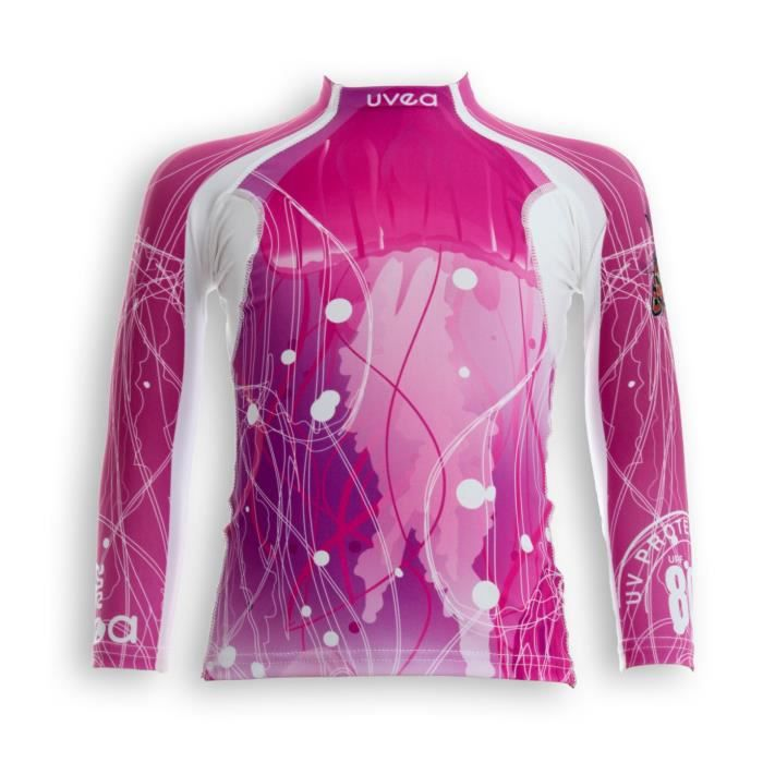 UVEA Teeshirt rashguard anti UV 80+ maillot manches longues INDIANA - Taille 2/4 ans - Imprimé jellyfish