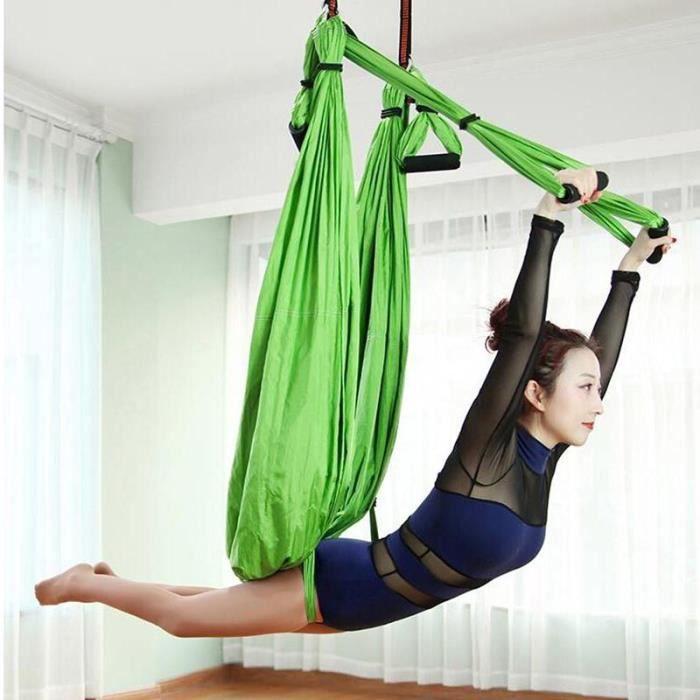 Accessoires Fitness - Musculation,Balançoire de Yoga aérienne Ultra forte Kit de hamac de Yoga antigravité outil - Type HYD014-LG