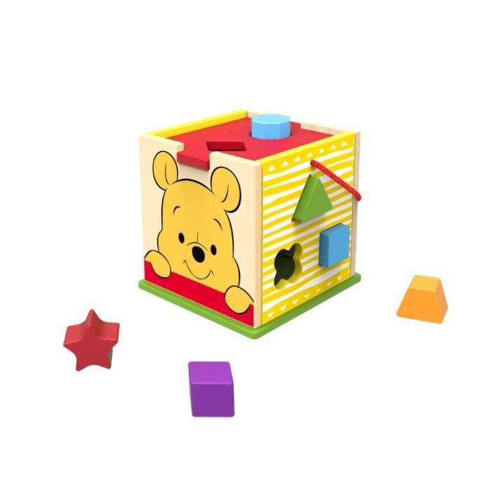 Disney - Cube Winnie l'Ourson et blocs en bois - 12 pcs