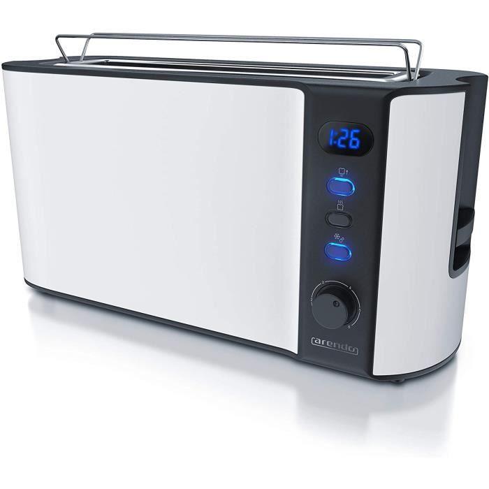 TOASTER arendo GrillePain Large Fente Affichage Digital GrillePain Automatique 3 en 11000W 6 Niveaux reacuteglable Fonction 24