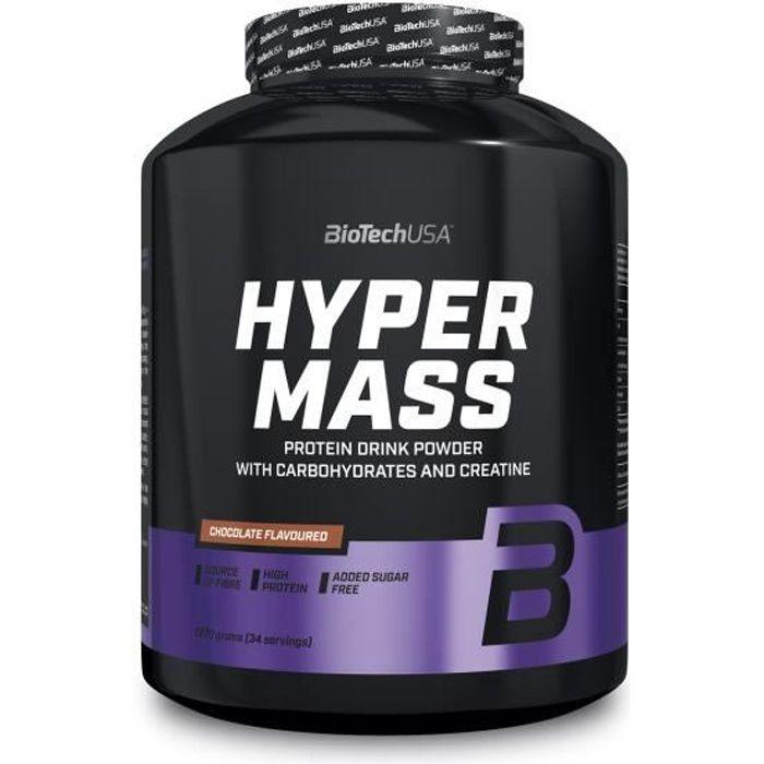 Hyper Mass 5000 2,27kg NOISETTE Biotech USA Gainer Proteine Musculation