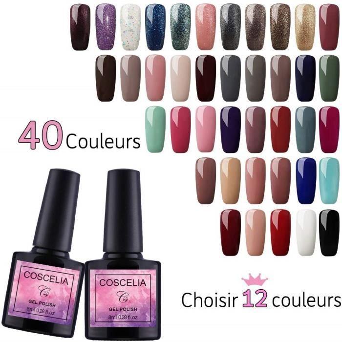 (Choisir 12 couleurs) Coscelia 12 pc Vernis Semi Permanent À Ongle Soak Off Gel Polish Uv Nail Art Kit Manucure 8ml