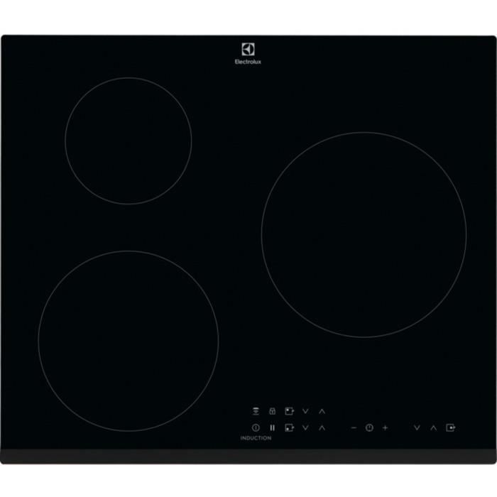 ELECTROLUX LIT6033 - Table de cuisson induction - 3 zones - 7350 W - L 59 x P 52 cm - Revêtement ver