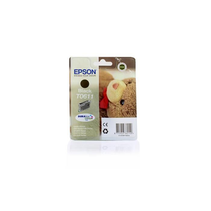 Epson Stylus D 68 PE - Original Epson C13T06114010 / T0611 - Cartouche d'encre Noir