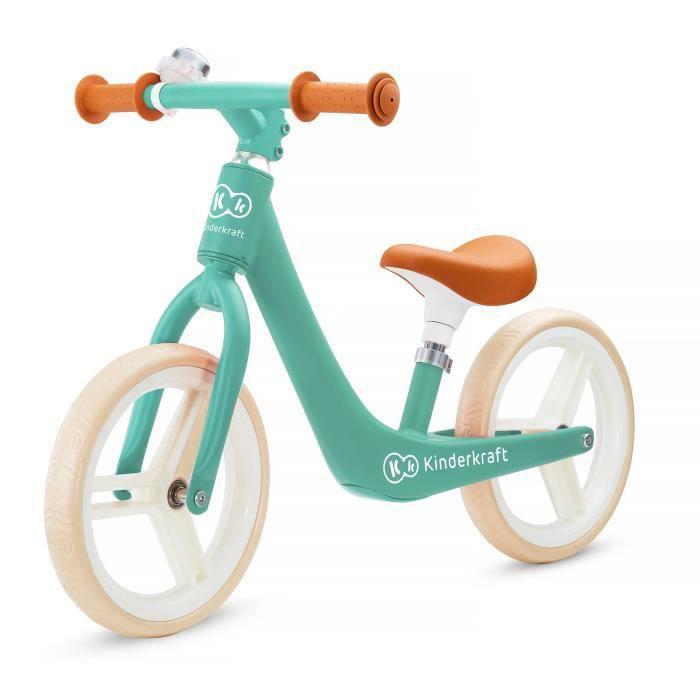 KINDERKRAFT Vélo Draisienne Fly Plus Midnight - Vert - Charge max 35 kg - A partir de 3 ans