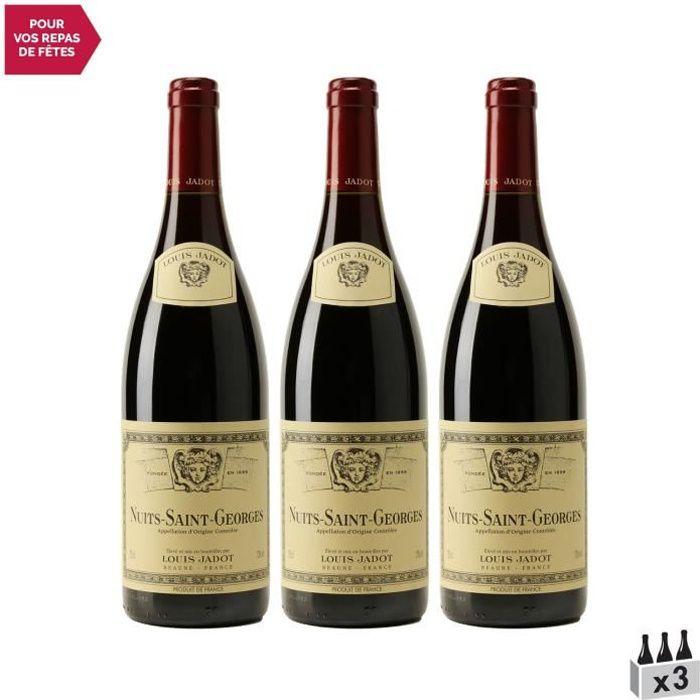 Nuits-Saint-Georges Rouge 2018 - Lot de 3x75cl - Louis Jadot - Vin AOC Rouge de Bourgogne - Cépage Pinot Noir