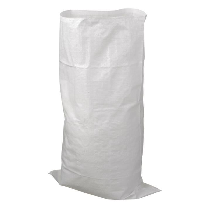 NATURE Sac à déchets matériaux bati - Blanc - 60 l - H100xØ60 cm