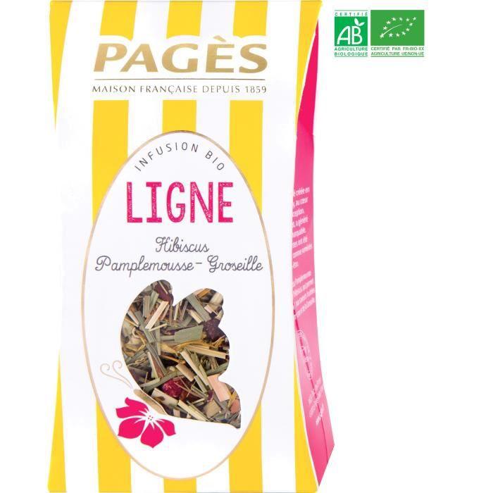 PAGES Infusion Ligne - Hibiscus, Pamplemousse, Groseille - Vrac - Bio