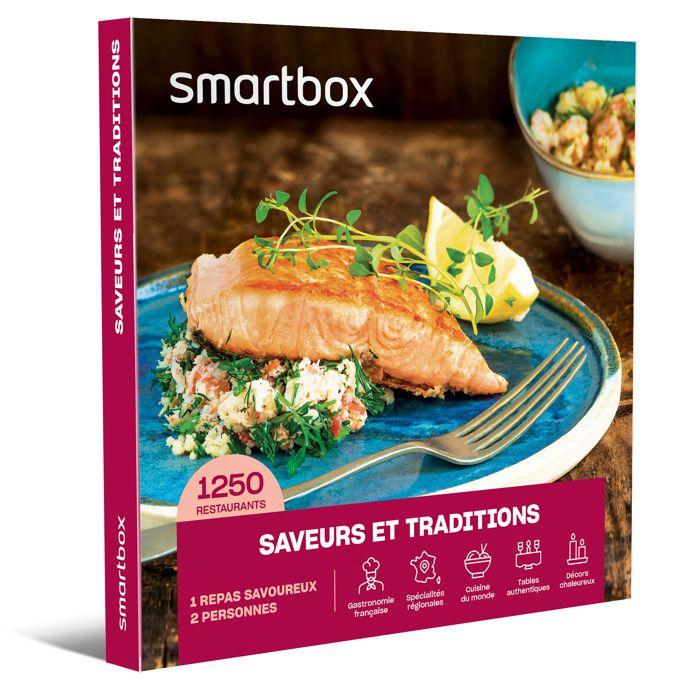 Smartbox - Saveurs et traditions - Coffret Cadeau - 1250 établissements de cuisine française et du monde