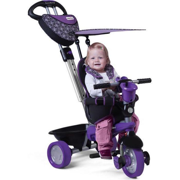 smarTrike Dream 4-en-1 bébé tricycle évolutif smart trike pour enfant 15+ Mois - noir et violet